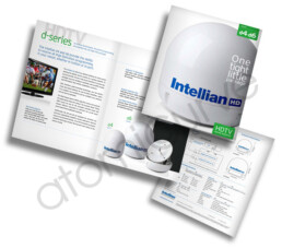 4 page brochure design for Intellian