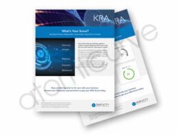 2-page financial flyer/brochure design