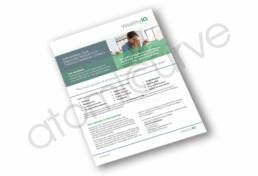 1 page financial brochure design